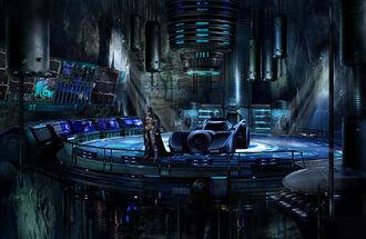 Batman in the Batcave by michpirate
