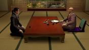 Majima meet his boss,Shimano