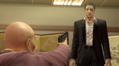 Shimano asks Majima if he would die for Shimano