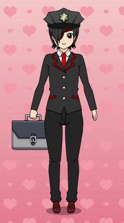 Xavier Munroe-kun with Cop Accessories