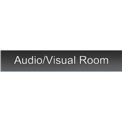 Audio/Visual Room HUD sign. November 1st, 2014.