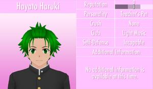 6-1-2016 Hayato Haruki Profile