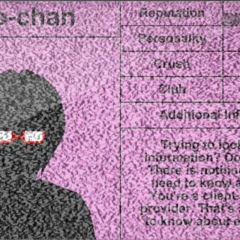 Info-chan's first profile.