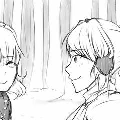 Yandere-chan approaching Rival-chan.