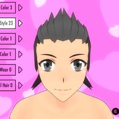 Hair Style #23 (Grey Spiky)
