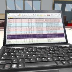 Genka's laptop screen.
