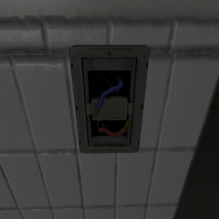 The unscrewed light switch. January 15th, 2016.