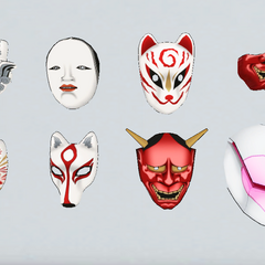 Mascaras do clube de teatro antigamente.