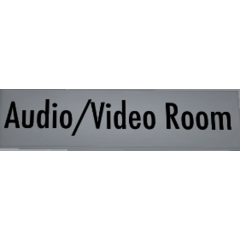 Audio/Video Room sign, February 2nd, 2016.