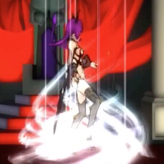 Dracula-chan teleporting.