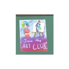 Poster for the Art Club.