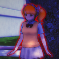 Rival-chan highlighted red in Yandere Vision.