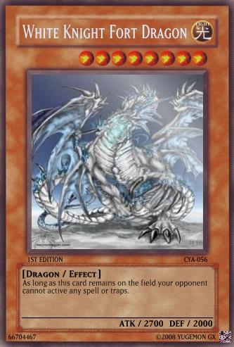white knight fort dragon yugioh card maker wiki