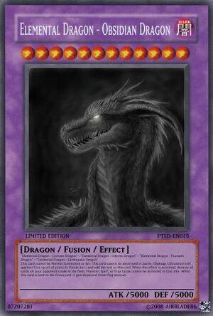 Elemental Dragon - Obsidian Dragon