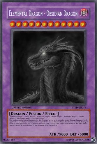 Elemental Dragon - Obsidian Dragon | Yu-Gi-Oh Card Maker ... Element Dragon Yugioh