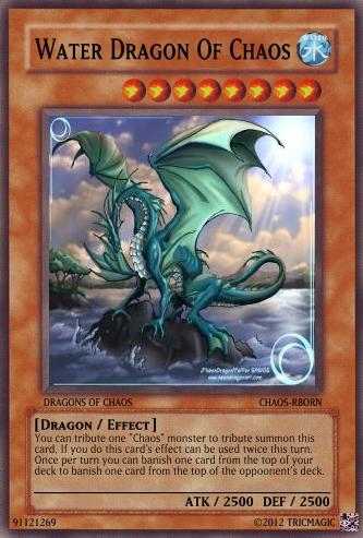 Water Dragon Of Chaos | Yu-Gi-Oh Card Maker Wiki | FANDOM ...