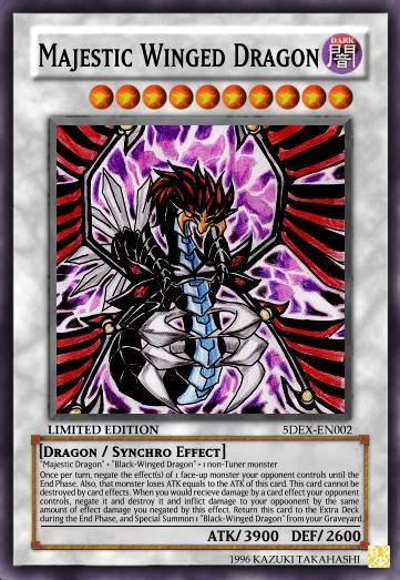 Yugioh 5ds Black Winged Dragon