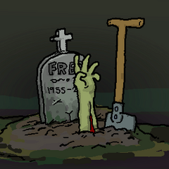 The birth of Zombie-Fred.