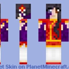 Kim's second Minecraft skin.