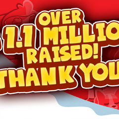 Over 1.1 Million Dollars was raised during the 2014 Jingle Jam