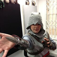 Hannah dressed up as an assassin from <a  class=