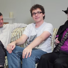 Dan, (along with his best friend Wot) interviewing Steven Moffat.