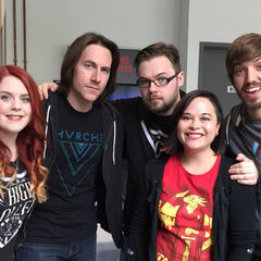 Trott (right) and the HighRollers crew with <a href=
