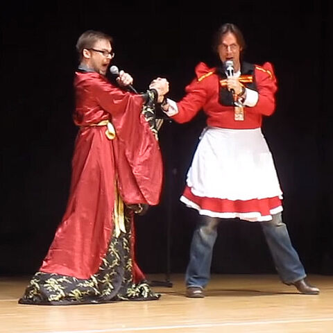 Mark Hulmes & Matt Mercer at AyaCon 2013