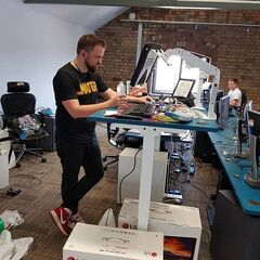 Turps at his new Standup Desk.