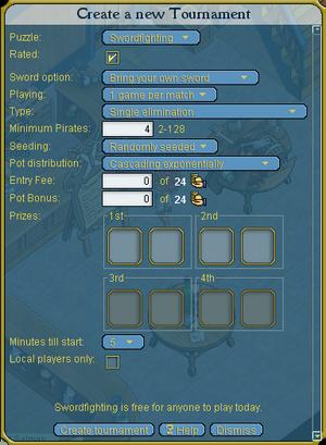 Tournament setup