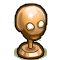 Trophy-Bronze Death's Head