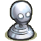Trophy-Silver Death's Head