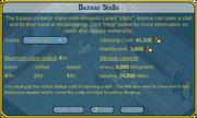 Open bazaar stall