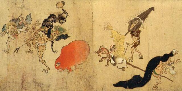 File:800px-Hyakki-Yagyo-Emaki Tsukumogami 1.jpg