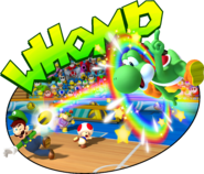 Yoshi Toad Luigi and Bowser Jr Dodgeball