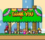 Thank You Message - Super Mario World