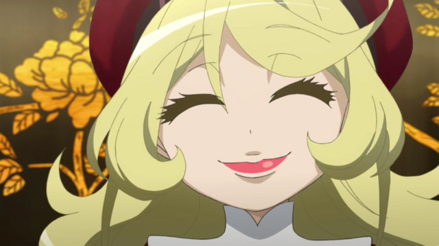 File:Tanya fake smile Anime.png