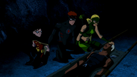 The Team saving Aqualad