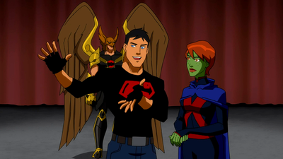 Image - Miss Martian and Superboy try to convince the ...