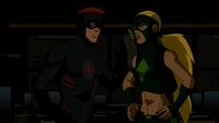 Artemis and Kid Flash argue
