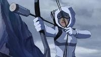 Artemis in snow suit