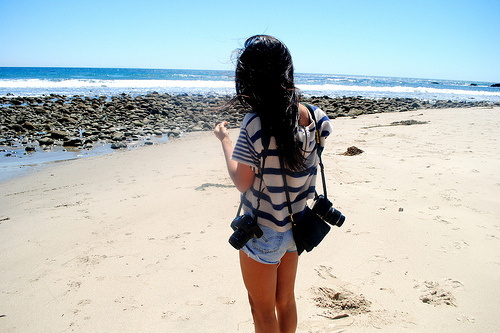 Image - Beach-camera-girl-hair-pretty-Favim.com-43289.jpeg | Young ...