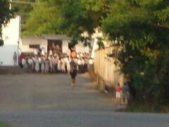 A crowd had gathered
