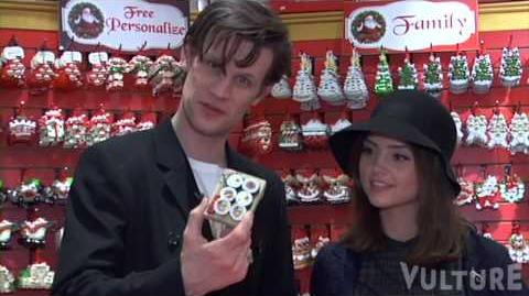 Christmas Shopping with 'Doctor Who' Actors Matt Smith and Jenna-Louise Coleman