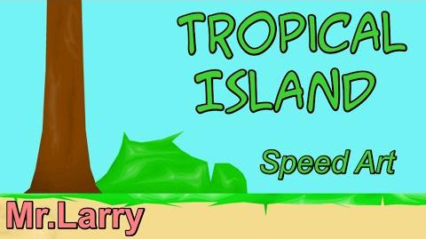 Tropical Island Part 1 Happy Wheels Speed Art Ep. 17