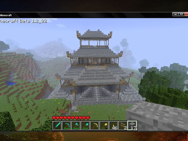 File:Japanese temple in minecraft by funkypencil-d3a20ez.png