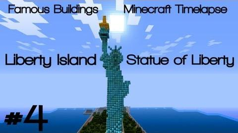 Minecraft Timelapse - Famous Buildings 4 Liberty Island & Statue of Liberty (DOWNLOAD)