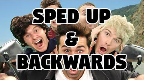 Bart Baker One Direction- Kiss You Parody Sped Up & Backwards