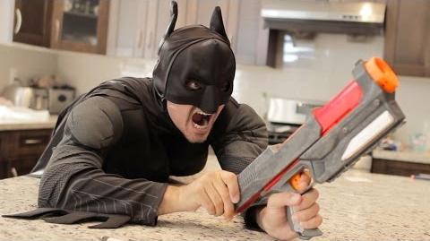 Nerf War- BATMAN vs JOKER! Superhero Battle!