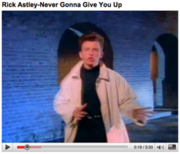Example of rickrolling
